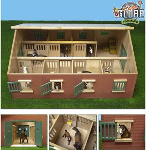 Kids GLOBE Pferdestall mit 7 Pferdeboxen