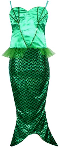 Kleid Meerjungfrau grün 7-8 43547912