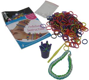 Loom Bands mit Werkzeug Armbänder