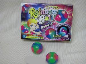 Springball Regenbogen mit Licht, 62mm 43620347
