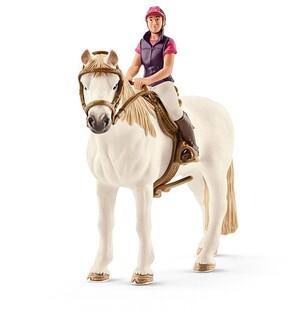 Schleich Freizeitreiterin mit Pferd 1239A4