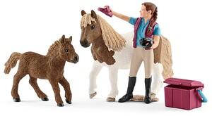 Schleich Pferdepflegerin mit Shettys 1242A3