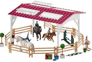Schleich Reitschule mit Reiterinnen und 1384