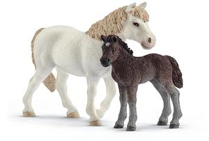 Schleich Set Pony Stute und Fohlen 2063