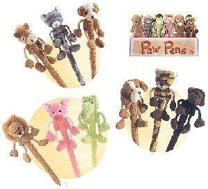 Kugelschreiber Chamois 18cm ass. (Pferd, Katze, Hund, Löwe, Schwein, Frosch, Bär, Tiger, Affe) 21020786