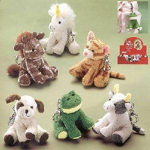 RUSS Chamois Schlüsselanhänger 13cm ass. (Einhorn, Giraffe, Hund, Frosch, Kuh) 21023125