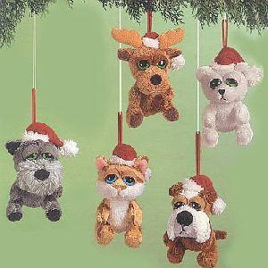 Peepers Weihnacht Ornamente ass. 18cm (Hunde, Bär, Katze, Elch) 21032940