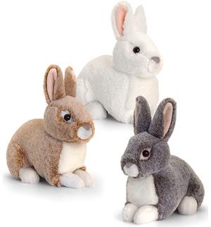 Keel Toys Hase Sitzend 20cm 3-fach (eines wird geliefert) ass. 2103319