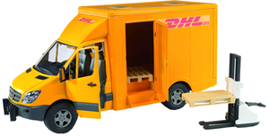 Bruder MB Sprinter DHL m. Handhubwagen 31002534