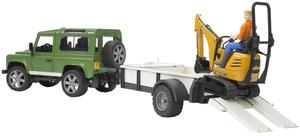 Bruder Land Rover Defender m. Einachsanhänger 31002593