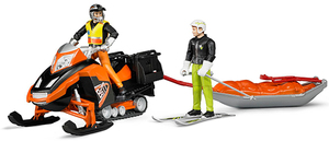 Bruder Snowmobil m. Akia-Rettungsschlitten