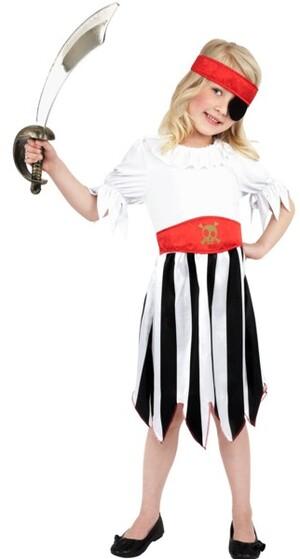 Piratin Mädchenkostüm Gr. M 710387762