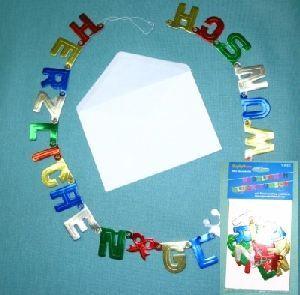 Karte/Briefumschlag/Girlande Herzl. Glückw. 80cm 72811012