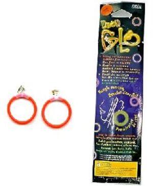 2 Neon-Ohrringe, 5x150mm, Farben ass. 72830107