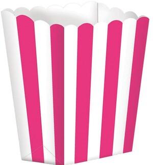 Amscan 5 Popcorn Schachteln Pink CHEV 728377551103