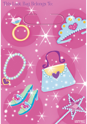 Amscan 8 Partybeutel Prinzessin 728379754