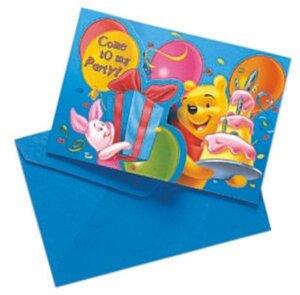 Diverse 6 Einladungs-Sets Winnie Pooh 7288123