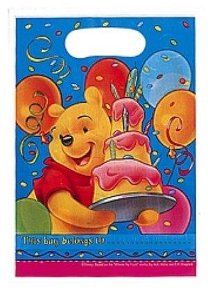 6 Partybeutel Winnie Pooh 7288126