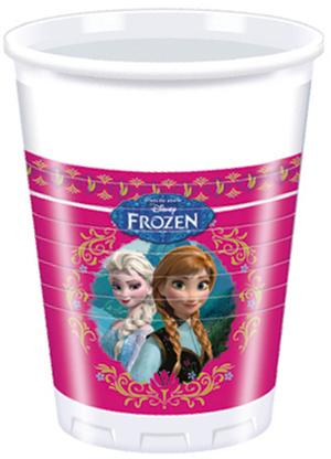 8 Plastik Becher Frozen 200ml 72882500