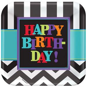 Amscan 8 Teller 23cm Happy Birthday 728997911