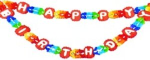 Girlande Happy Birthday 4m 73111100