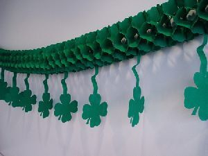 Girlande Klee, grün, 3m 73111144