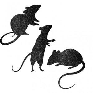 Glitzer Mäuse 9 Stk. 732190193