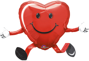 Amscan Folienballon Herz laufend 76307585