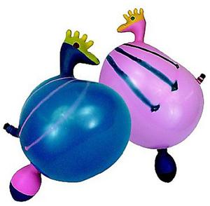 2 Ballone Hahn mit Sound 763102H