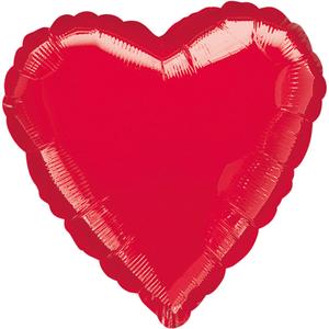 Amscan Folienballon Herz rot 45cm 7631058415