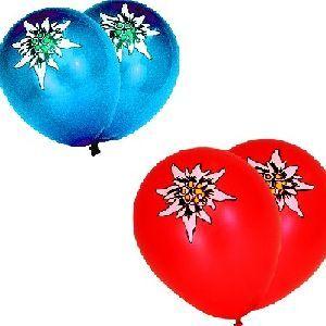 20 Ballone Edelweiss rot/blau, 1 Ventil, 100cm 76321610