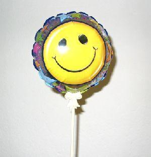 Folienballon Smiley, 17cm, 4-fach (eines wird geliefert) ass. 76321666