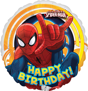 Amscan FB Spiderman Happy B. 45cm 76326337
