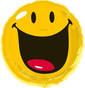 Amscan Folienballon Smiley rund 76327443