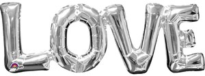 Amscan FB Satz *Love* silber 63x22cm 7633310101