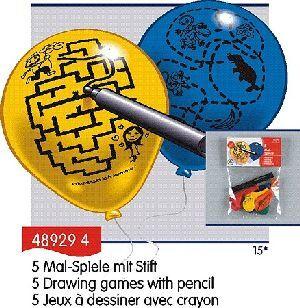 5 Ballone zum Zeichnen mit Stift 763489294