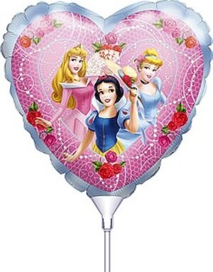 Anagram Mini Folienballon Princess Happy Birthday zum Aufblasen 763662086