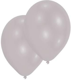 Amscan 10 Ballone silber 27.5cm 763995439