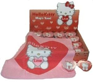 Hello Kitty Magic Towel im Display 5cm RED 86010014