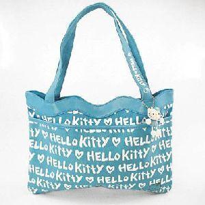 Tasche mit Maskottchen 31.5cm Monogramm blau 860414646