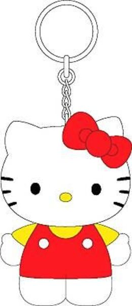 Squeeky Schlüsselanhänger 10.5 cm Standing Kitty rot 860695262