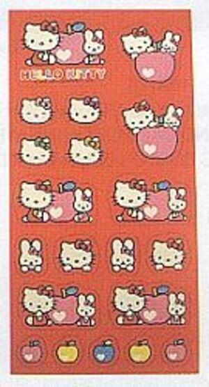 Sticker 15.5cm HEART APPLE 860747297