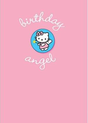 B-Card Birthday Angel mit Brosche (Badge) 17cm 860HK043