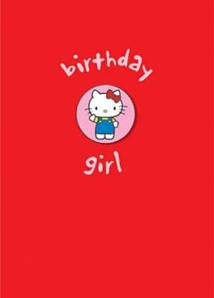 B-Card Birthday Girl mit Brosche (Badge) 17cm 860HK045