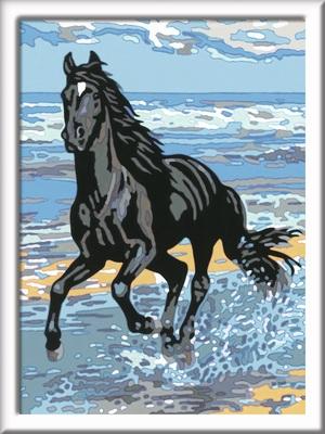 Ravensburger Malset Pferd am Strand Malen nach Zahlen, 18x24 cm, Komplettset, ab 11 Jahren 64728565