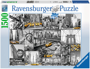 Ravensburger Puzzle Farbtupfer in N.York 1500 Teile, 80x60 cm, ab 14 Jahren 60016354