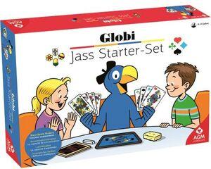 Globi Jassen Starterset inkl. Karten, Jassteppich etc. im Globidesign, ab 6+ 62511117