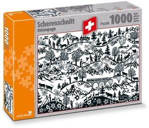 carta.media Schweizer Scherenschnitt Puzzle [1000 Teile]