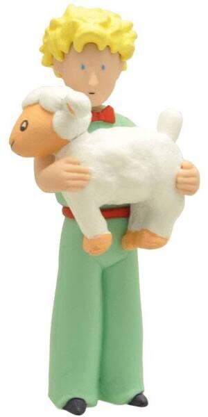 PLASTOY Der Kleine Prinz: Der Kleine Prinz und das Schaf - Figur [7cm] HN00PL61031