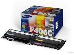 HP SAMSUNG CLT-P406C 4-pk CYMK Toner Crt SU375A
